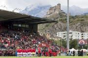 Am Samstag, 15 Uhr, spielt der SC Brühl im Stade de Tourbillon gegen das U21-Team FC Sion II. (Bild: Laurent Gillieron/KEY - 8. September 2019)