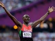 Will im nächsten Sommer in Tokio seine dritte Olympia-Goldmedaille gewinnen: 800-m-Rekordhalter David Rudisha (Bild: KEYSTONE/AP/ANJA NIEDRINGHAUS)