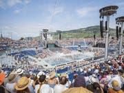 Trotz tausenden von Zuschauern haben die Veranstalter der Fête des Vignerons 16 Millionen Mehrkosten verzeichnet. (Bild: KEYSTONE/CYRIL ZINGARO)