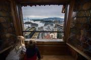 Eine Aussicht, die sich sehen lässt, finden auch die Kleinen. (Bild: Eveline Beerkircher, 14. September 2019)