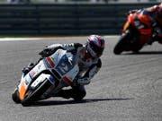 Jesko Raffin bestritt bereits Anfang Jahr drei Moto2-Rennen als Ersatzfahrer, nun darf der Zürcher erneut einspringen (Bild: KEYSTONE/EPA/LARRY W. SMITH)