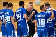 Trainer Goran Perkovac sagt: «Wir sind effizient – und so funktioniert halt der erfolgreiche Handball.» (Bild: Philipp Schmidli (Kriens, 8. September 2018))