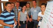 Dynamische Gruppenarbeit in Wilen: Spannende Auseinandersetzungen in der «Familienkonferenz» mit Blick in die Zukunft.Bild: Roland P. Poschung