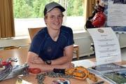 Michael Odermatt ist im dritten Lehrjahr als Seilbahn-Mechatroniker. Am Einheimisch-Tag der Titlisbahnen stellte er diesen Beruf vor. (Bild: PD)