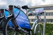 Next Bike Station fotografiert an der Maihofstrasse in Luzern am 12.07.2019