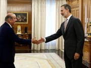 König Felipe VI. (r) hat zweitägige Konsultationen mit den Chefs aller im Parlament vertretenen Parteien begonnen. Dabei will er prüfen, ob es noch eine Chance für die Bildung einer mehrheitsfähigen Regierung gibt. (Bild: KEYSTONE/EPA EFE/SEBASTIAN MARISCAL)