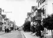 Das älteste Foto des Hauses an der Alleestrasse, aufgenommen zwischen 1920 und 1930. (Bild: PD)