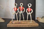 Das Sennen Trio, eines der Werke von Barbara Broger. (Bild: Adi Lippuner)