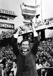 Rudi Gutendorf (damals 34) führte den FC Luzern 1960 im Cupfinal in Bern gegen Grenchen zum ersten Pokal der Klubhistorie. (Bild: PD)