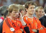 Kahn verärgert, Lehmann erfreut: 2006 besetzte Lehmann (rechts) das deutsche Tor - bis auf eine Partie. (Bild: Keystone)
