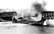 Am Nachmittag des 29.Juli 1963 brannte das Bauwerk nieder.