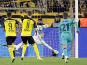 Penalty pariert: Marc-Andre ter Stegen rettet Barcelona in Dortmund einen Punkt (Bild: KEYSTONE/AP/MICHAEL PROBST)