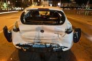 Beim Unfall entstand ein Sachschaden von rund 17'000 Franken. (Bild: Luzerner Polizei)