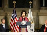 Die US-Verkehrsministerin Elaine Chao kommt wegen Enthüllungen von Aktivitäten ihrer Familie immer mehr unter Druck. (Bild: KEYSTONE/AP/PABLO MARTINEZ MONSIVAIS)
