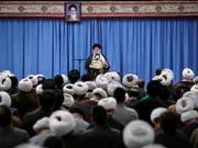 Ein Treffen zwischen dem Iran und den USA ist nach den Worten Ajatollah Ali Chameneis nur zusammen mit den Vertragspartnern des Atomabkommens möglich. (Bild: KEYSTONE/EPA IRAN'S SUPREME LEADER OFFICE/IRAN'S SUPREME)