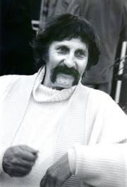 Star-Designer Luigi Colani war am 2.September 1989 an der Wiga in Buchs zu Gast. (Bild: Hansruedi Rohrer)