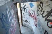 Sprayereien und Schmierereien in einem Durchgang in Frauenfeld. (Symbolbild: Nana Do Carmo - 16. April 2003)