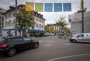 Am Helvetiaplatz, dem unteren Ende des Boulevards, wird innerhalb der nächsten Wochen eine neue WC-Anlage installiert. (Bild: Reto Martin, 3.10.2018)