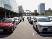 Japan mit erneut weniger Exporten: Vor allem die Nachfrage nach Autos, Autoteilen und Maschinen zur Chip-Produktion liess im August nach. (Bild: KEYSTONE/EPA/KIMIMASA MAYAMA)