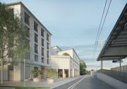 So sieht das Siegerprojekt «Dora» von Architekt Lukas Imhof für das neue Chrischona-Begegnungszentrum aus. (Bild:PD)