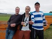 Jack Stoiker (Mitte) mit der Band Knöppel. Links Marc Jenny, rechts René Zosso. (Bild: zvg)