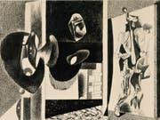 Das Werk «Untitled» (1931-1933) von Arshile Gorky ist Teil der Ausstellung «Picasso-Gorky-Warhol» im Kunsthaus Zürich. Sie dauert vom 20. September 2019 bis 5. Januar 2020. (Bild: Hubert Looser Collection)