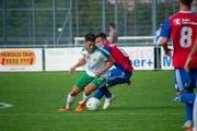 Am Samstag spielt der SC Brühl gegen den FC Basel II. Im letzten Heimspiel gegen Basel im September 2018 drehte der SC Brühl ein 0:2 zu einem 2:2-Unentschieden. Links Claudio Holenstein, welcher in der Partie von diesem Samstag fehlen wird. (Bild: SC Brühl)