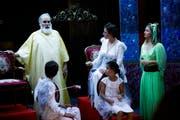 In unvergleichlich kleinen Opernhaus wird präzis und motiviert gespielt und gesungen. (Bild: Donato Caspari (Märstetten, 29. August 2019))