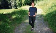 Petra Vetsch hält sich gerne in der Natur auf, etwa mit Fahrradfahren, Laufen oder Schneewandern. Bild: PD