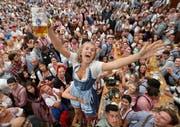 «Es is a Mordsgaudi» – wie hier beim Münchner Oktoberfest wird auch am Samstag in Altdorf die Stimmung überborden. (Bild: Alexandra Beier / Getty, 22.September 2018)