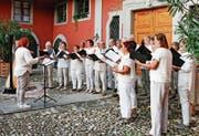 Der Chor über dem Bodensee gestaltete einen wunderbaren Abend.Bild: pd