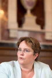 Erwartet steigende Arbeitslosenzahlen: Magdalena Martullo-Blocher. (Bild: Claudio Thoma)