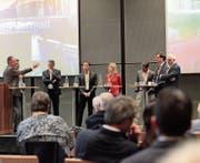 Die neue Konzerthalle macht aus Andermatt auch einen Ort für internationale Konferenzen. Bild: Florian Arnold (Andermatt, 20. September 2019)