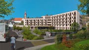 So soll das Alterswohnzentrum dereinst aussehen. (Bild: Visualisierung: PD)