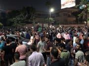 Einer der seltenen Proteste gegen das Regime in Downtown Kairo. (Bild: Keystone/EPA/BASMA MOUSTAFA)