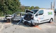 Der Autofahrer verstarb am Unfallort. (Bild: kapo)