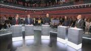 In der «Arena» trafen sich die Kandidierenden für den Ständerat im Kanton Zürich. (Bild: Screenshot/SRF)