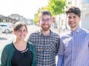 Tritt geschlossen zurück: Das Co-Präsidium der Jungen Grünen mit Maja Haus, Kevin Morisod und Luzian Franzini (von links). (Bild: Junge Grüne)