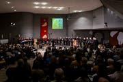 Urauffuehrung des Oratoriums von Carl Ruetti zu Bildern von Maria Hafner in der St. Johannes Kirche in Zug. (Bild: Patrick Hürlimann, Zug, 21. September 2019)