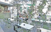 Lauschig: Der Hofgarten ist nach der Sanierung kaum wiederzuerkennen. (Bild: PD)