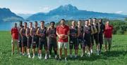Ist bereit, einen weiteren Schritt nach vorne zu machen: Swiss Central Basketball mit Coach Danijel Eric (mit Ball). (Bild: Daniel Schriber (Weggis, 15. September 2019))