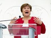 Die Bulgarin Kristalina Georgieva ist am Mittwoch vom Direktorium des Internationalen Währungsfonds in Washington als Chefin bestätigt worden. (Bild: KEYSTONE/EPA/MICHAEL REYNOLDS)