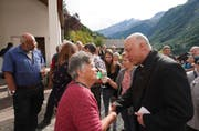 Die Spirgner Bevölkerung konnte sich persönlich von Pfarrer Jan Strancich verabschieden. (Bild: Franz Imholz, 22. September 2019)