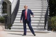 US-Präsident Trump steht im Gegenwind. (Bild: Erik S. Lesser/EPA/Key)