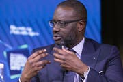 Gestern trat er öffentlich auf: Tidjane Thiam, CEO der Credit Suisse, sprach in New York am Bloomberg Global Business Forum - allerdings nicht über den Beschattungsskandal. (Bild: AP Photo/Mark Lennihan)