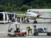 Der Flugbetrieb zwischen Zürich und Lugano ist auch für das Wochenende abgesagt. Die slowenische Fluggesellschaft Adria Airways bleibt wegen Geldmangels auch am Samstag und Sonntag am Boden. (Bild: KEYSTONE/TI-PRESS/GABRIELE PUTZU)