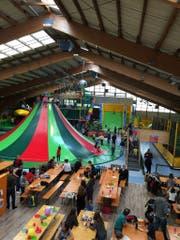 Der Indoor-Spielplatz beim Beo-Funpark.
