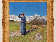 Das Licht der Alpen kommt in Giovanni Segantinis Werk «Mezzogiorno sulle alpi» besonders gut zur Geltung. (Bild: Kunstmuseum St. Gallen)