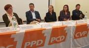 Barbara Dätwyler (SP), Urs Forster (FDP), Anja Scholz (CVP), Sandra Stadler (CVP) und Daniel Vetterli (SVP). (Bild: PD)