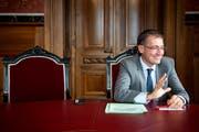 Roland Rino Büchel, St.Galler SVP-Nationalrat und Ständeratskandidat. (Bild: Peter Schneider/Keystone)